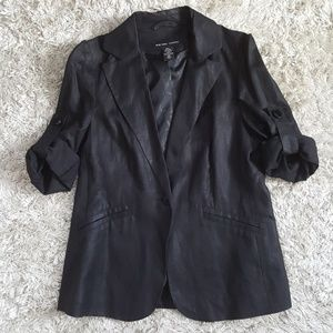 NY&C rolled sleeve black blazer, sz M
